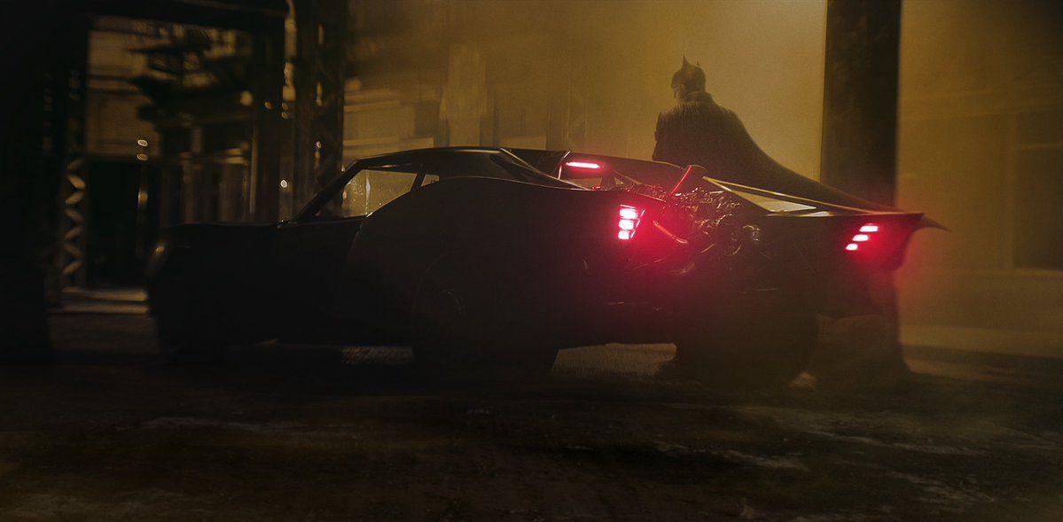 Batman with his new batmobile