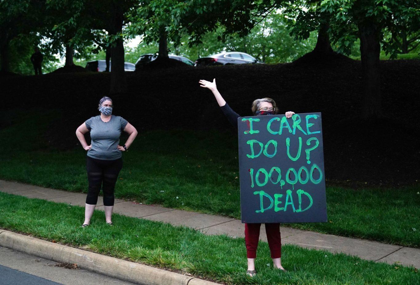 Trump is ignoring the 100k deaths in america