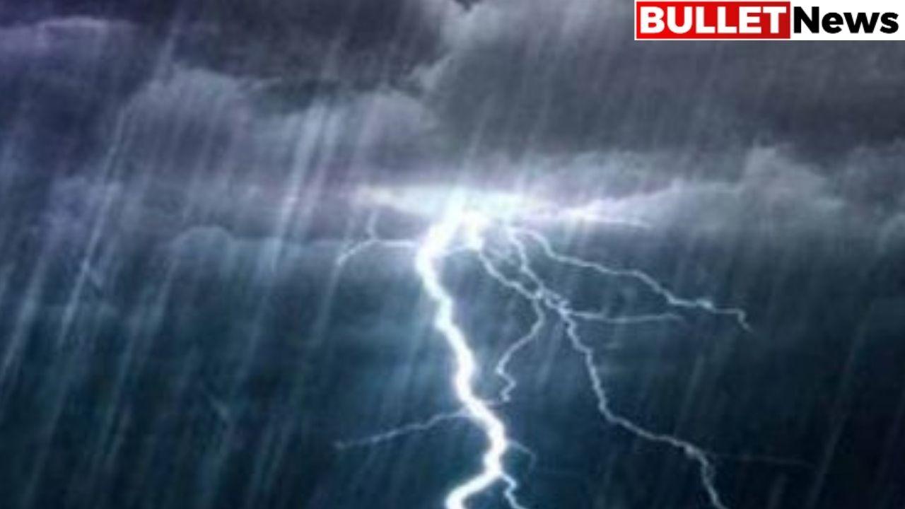 Heavy rainfall thunderstorm